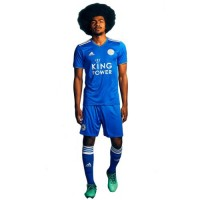 A forma do clube de futebol Leicester City 2018/2019 Home (unidade: T-shirt + short + leggings)