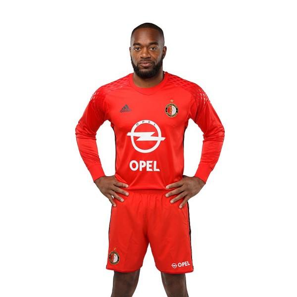 Мужская форма голкипера футбольного клуба Фейеноорд 2016/2017 (комплект:  футболка + шорты + гетры)