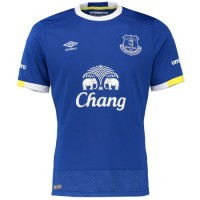 A forma do time de futebol Everton 2016/2017 Inicio (conjunto: camiseta + shorts + leggings)