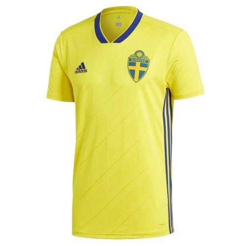 Форма сборной Швеции по футболу ЧМ-2018 Домашняя (комплект  футболка +  шорты + 893b65bf9f0